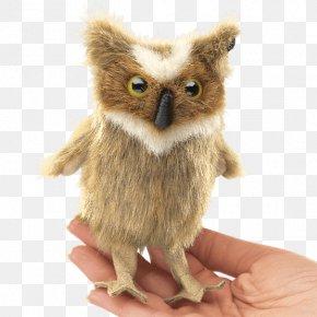 Great Horned Owl - Great Horned Owl Finger Puppet Bird PNG