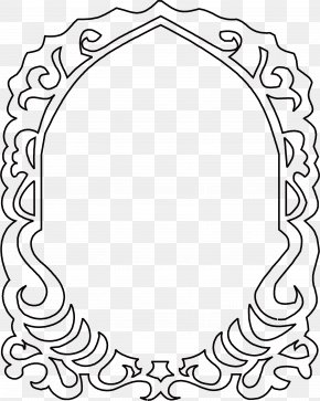 Small Black Frame - Black And White PNG
