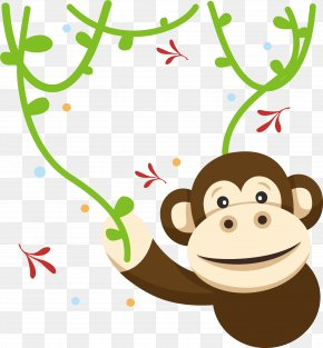 Gorillas In The Jungle - Gorilla Monkey Jungle Clip Art PNG