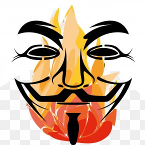 Anonymous Mask - T-shirt Gunpowder Plot Guy Fawkes Mask Anonymous PNG