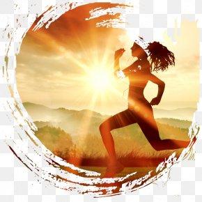 Running Woman - Running Sports Bra Pedometer Jogging PNG