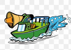 A Ship In A Cartoon - Ship Watercraft Boat PNG