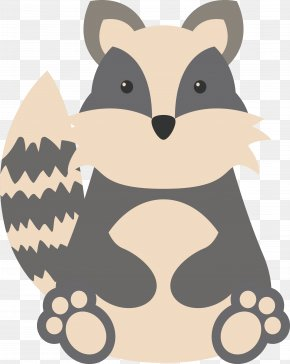 Cartoon Little Raccoon - Raccoon Cartoon Squirrel Mouse PNG