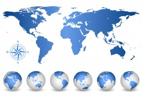 World Map Vector - World Map Wall Decal PNG