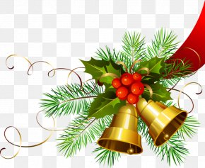 Transparent Christmas Gold Bells - Christmas Day Christmas Decoration Jingle Bell Clip Art PNG