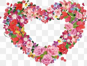 Flowers - Flower Heart PNG