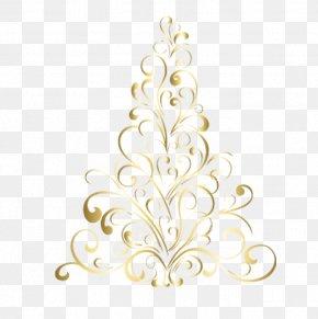 Golden Christmas Tree Shape Pattern - Christmas Tree Euclidean Vector PNG