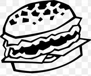 Vector Burger - Hamburger Black And White PNG