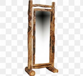 Rustic Wooden Swings - Mirror Drawer Log Furniture Aspen Picture Frames PNG