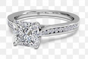 Princess Cut Diamond Rings - Wedding Ring Engagement Ring Jewellery PNG