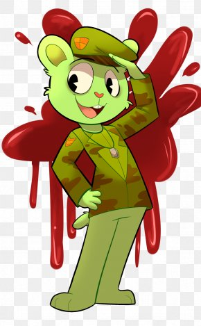 Happy Tree Friends - Flippy Aka Creek Violence House PNG