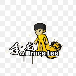 Kung Fu Master Bruce Lee Cartoon Pattern - Kung-Fu Master Cartoon Theme Wallpaper PNG