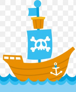 Ship - Clip Art Piracy Ship Image Free Content PNG