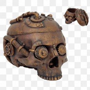 Skull - Skull Calavera Steampunk Robot Box PNG