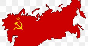 Flag Of The Soviet Union - Flag Of The Soviet Union Russian Revolution Map PNG