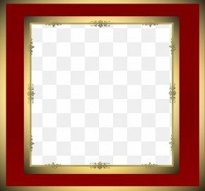 Maroon Border Frame Transparent - Picture Frame Clip Art PNG