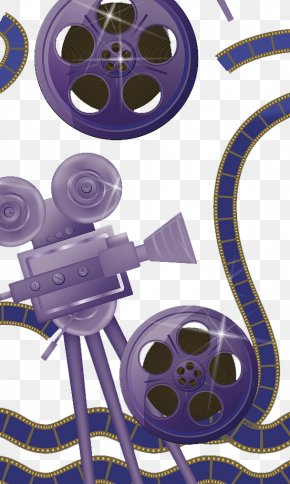 Illustration Film And Projector - Photographic Film Illustration PNG