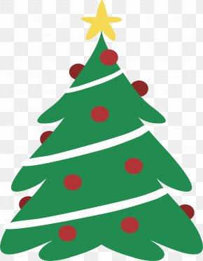 Green Christmas Tree - Santa Claus Christmas Tree Christmas Decoration PNG