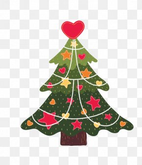 Cartoon Christmas Tree - Drawing Trees Christmas Tree Illustration PNG