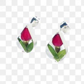 Jewellery - Earring Jewellery Sterling Silver Rose PNG