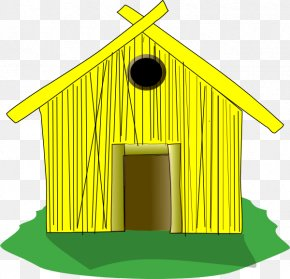 House - Clip Art Straw Openclipart House Shack PNG