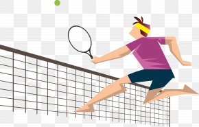 Tennis Player Vector - Euclidean Vector Tennis Player Download PNG