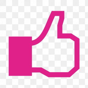 Pink Like - Facebook Like Button Clip Art PNG
