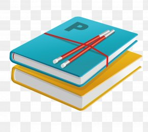 Stack Of Books And Pens - Hardcover Book Design Clip Art PNG