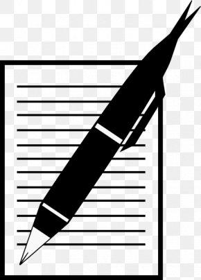 Fancy Writing Paper - Paper Writing Pen Clip Art PNG
