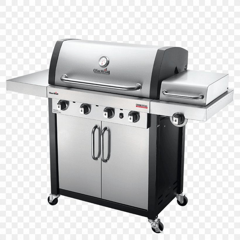 Barbecue Grilling Char-Broil TRU-Infrared 463633316 Char-Broil Commercial 4 Burner Gas Grill, PNG, 1000x1000px, Barbecue, Brenner, Charbroil, Charbroil 3 Burner Gas Grill, Charbroil Truinfrared 463633316 Download Free
