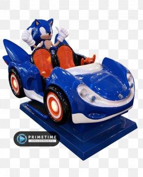 Car - Car SegaSonic The Hedgehog Sonic & Sega All-Stars Racing Kiddie Ride Amusement Park PNG