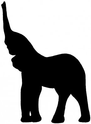 Baby Elephant Outline - African Elephant Silhouette Clip Art PNG