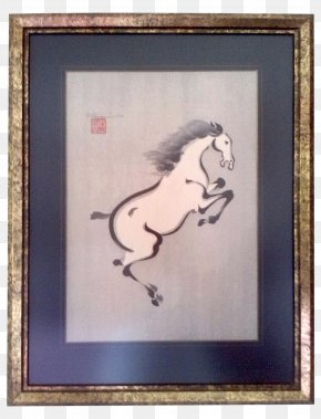Painting - Ink Wash Painting Horse Art Drawing PNG