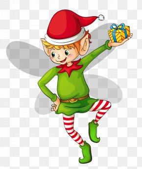 Christmas Cute Elf Clipart - The Elf On The Shelf Santa Claus Christmas Elf Clip Art PNG
