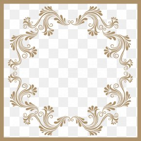 Yellow Frame With A Pattern - Visual Arts Picture Frame Pattern PNG