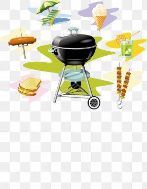 Barbecue Creative Hand-painted Color - Barbecue Sauce Steak Barbecue Chicken PNG