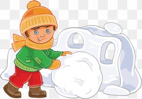 Snowman In Winter - Snow Fort Winter Clip Art PNG