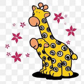 Cartoon Cute Giraffe - Northern Giraffe T-shirt Drawing Cartoon PNG