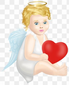 Angel With Heart Clip Art - Santa Claus Clip Art PNG