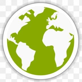 Midori Globe - Grass Leaf Logo Green PNG