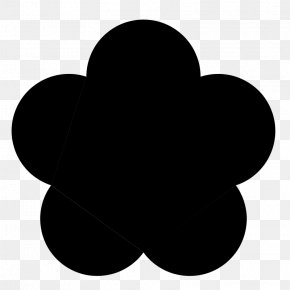 Flower Black - Flower Petal Clip Art PNG