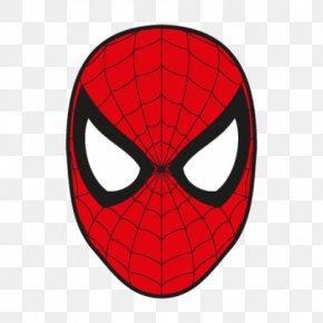 Spiderman Face Clipart - Spider-Man Logo Superhero Clip Art PNG