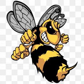 Fist Head Cartoon Bumblebee - Bee Hornet Cartoon Clip Art PNG