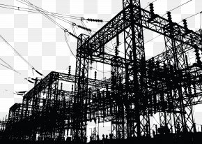 Construction Route Vector - Electricity Power Station Electric Power Electrician PNG