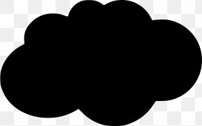 M Resource Cloud ComputingCloud Icon Svg - Virtualization Information Black & White PNG