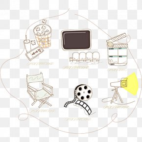 Hand Painted Cinema Symbol - Cinema Film Drawing PNG