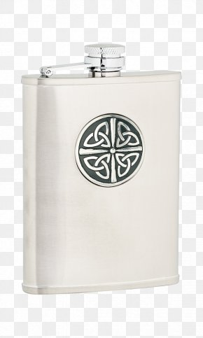 Stainless Steel Flask - Flasks Stainless Steel Brushed Metal Celtic Knot PNG