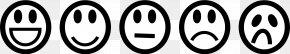 Black And White Sad Face - Smiley Emoticon Black And White Clip Art PNG