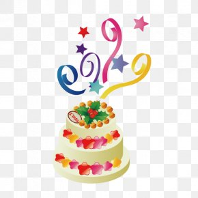 Birthday Cake - Birthday Cake Sugar Cake Torte PNG