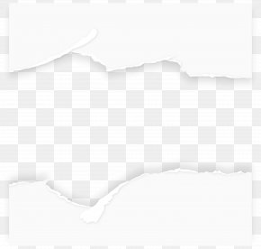 Torn Paper Background Vector - Black And White Pattern PNG